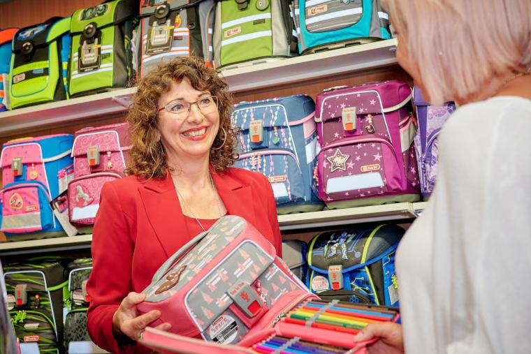 Ingrid Maierhofer, Geschäftsführerin des Papierhaus Thaller in Pilsting
